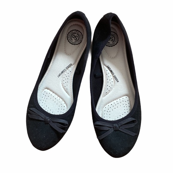 SO Bow Front Flats round toe size 8 1/2
